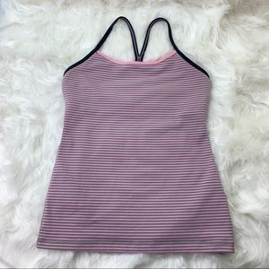 Lululemon Tank, Active top - size 6 Pink stripes